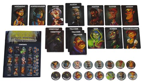 ultimate werewolf printable cards one night ultimate werewolf board game review if you
