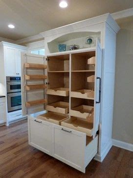 Custom Kitchen Pantry Cabinet Custom Built In Pantry With Rollout Shelves Craftsman Kitchen Other Metro Twickenham