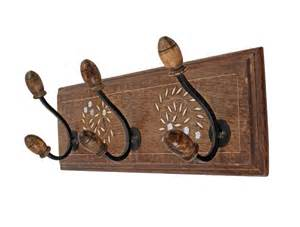 vintage wall coat hooks hanger 18 quot rack adorned with