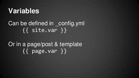 jekyll layout variables jekyll demo refresh hilo