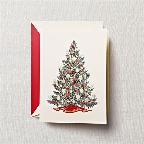 traditional christmas tree greeting cards