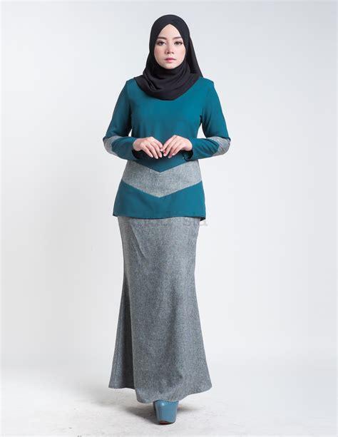 baju kurung moden mini pendek turqouise aimie
