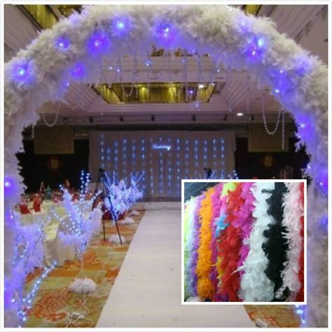 Wholesale Feather Wedding Decorations 2m Long Boa Fluffy