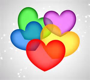 colorful hearts colorful hearts wallpaper wallpapersafari