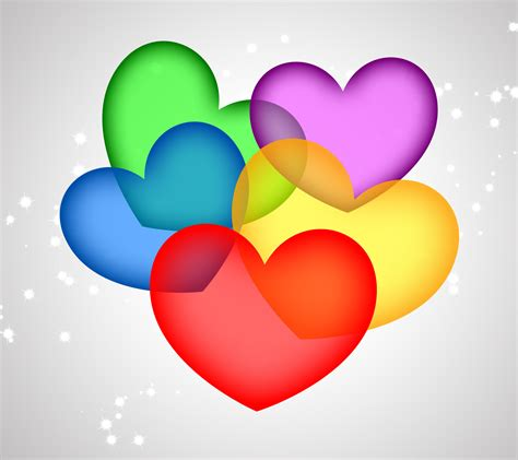 wallpaper of colorful hearts pap 233 is de parede para celular colorful hearts