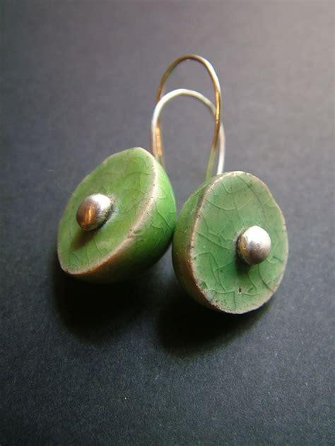 how to make ceramic jewelry raku ceramic and silver earring raku ceramic earring