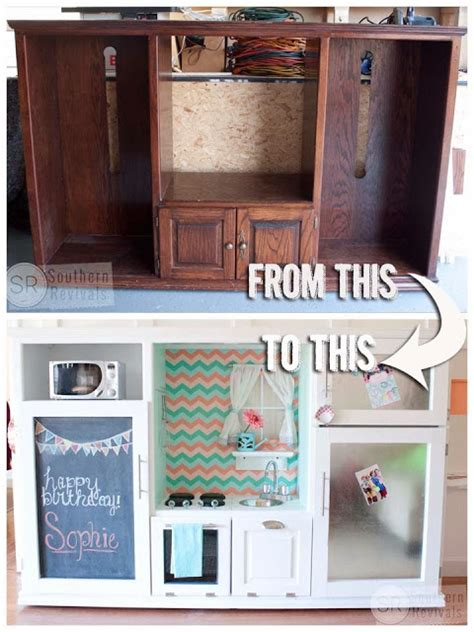 tv cabinet made into play kitchen diy inspiration for my tv cabinet play kitchen at home