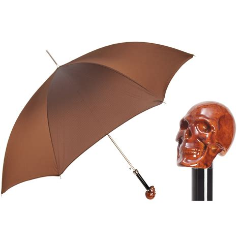 skull pattern umbrella pasotti ombrelli amazing brown men s umbrella brown