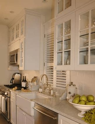 glass cabinet doors kitchen farmhouse with apron sink white kitchens sushimama