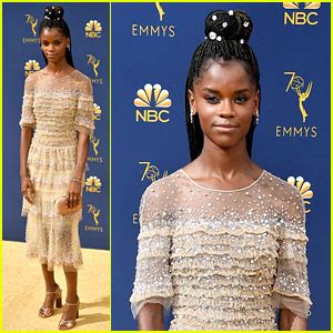 letitia wright emmy 2018 black mirror s letitia wright hits the emmys 2018 red