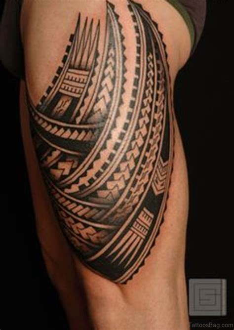 dark tribal tattoos 53 classic tribal tattoos on thigh