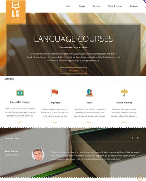 templates for library website 16 online library website templates themes free