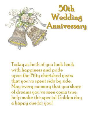 50th Wedding Anniversary Card Verses by Golden Wedding Anniversary Card