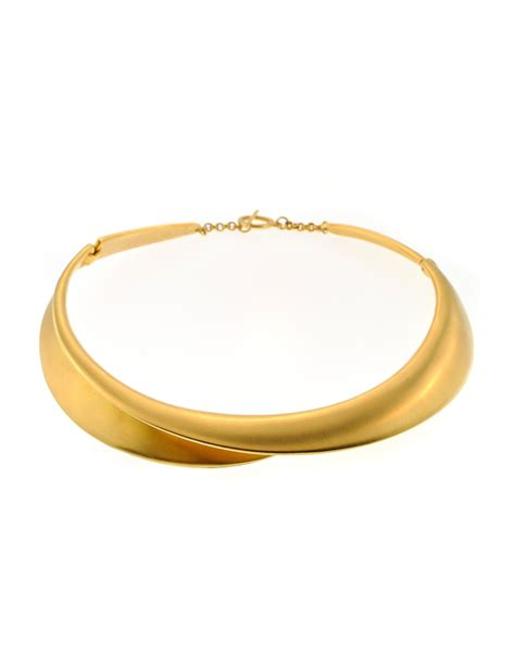 gold collar clara studio vintage gold collar choker necklace from amarcord vintage fashion