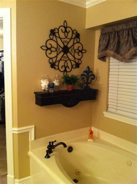 fancy bathroom decor decosee com decorative shelf above bath tub for the home pinterest