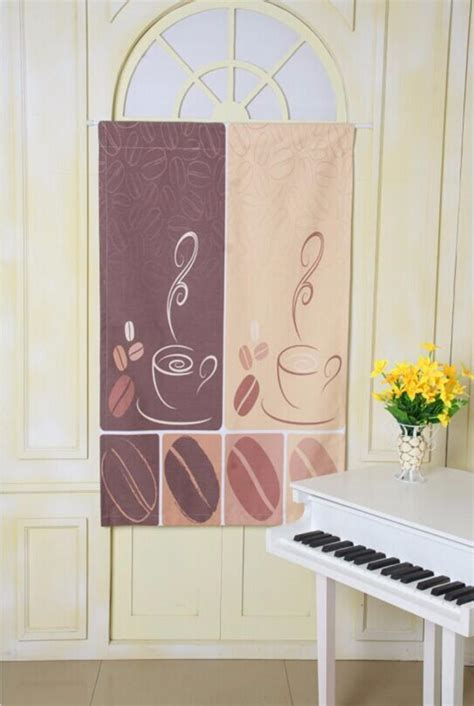 modern cafe kitchen curtains styles coffee bean design