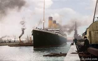 titanic color the real titanic in color titanic 3d