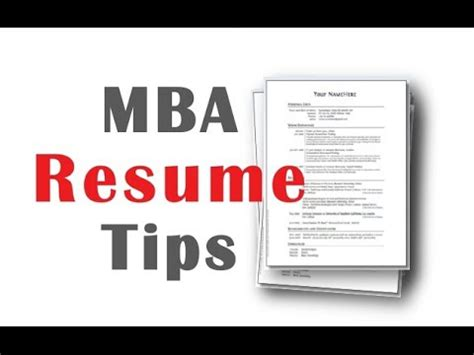 Tips Mba by 4 Mba Resume Tips