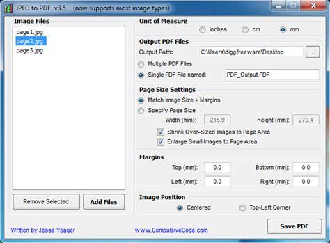 jpg to pdf portable jpg to pdf converter freeware diggfreeware
