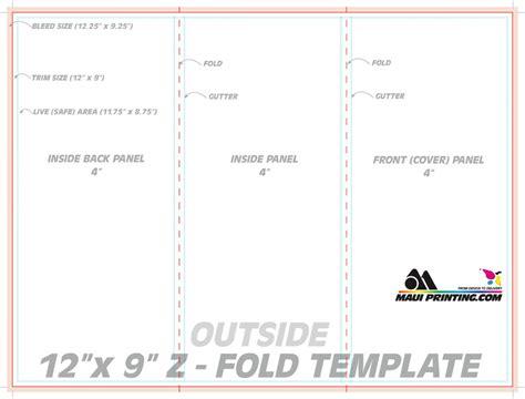 z fold brochure template indesign gallery template design ideas