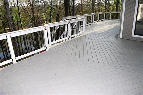 azek harvest collection slate gray deck grooved