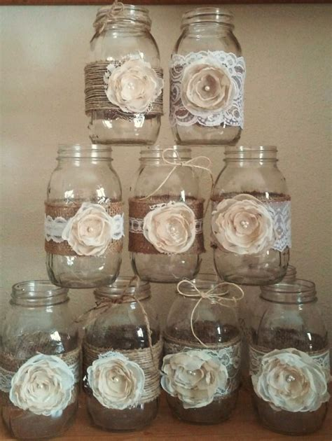 rustic jar centerpieces for weddings 10 shabby chic jar sleeves rustic wedding