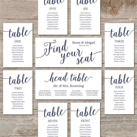 wedding seating chart printable alphabetical seating chart wedding