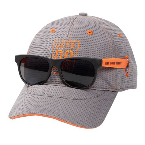 the home depot s onesize grey orange evo mesh hat with