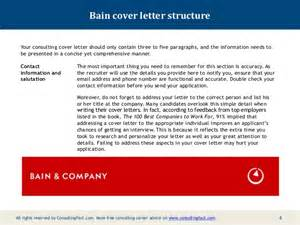Cover Letter For Bain And Company by Bain Cover Letter Sle