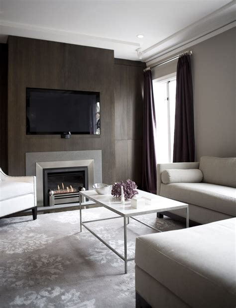 Modern Fireplace Screens Living Room Contemporary with Gray Linen Decorative Pillows