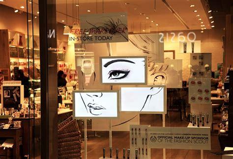 Make Up The Shop makeup window display makeup vidalondon