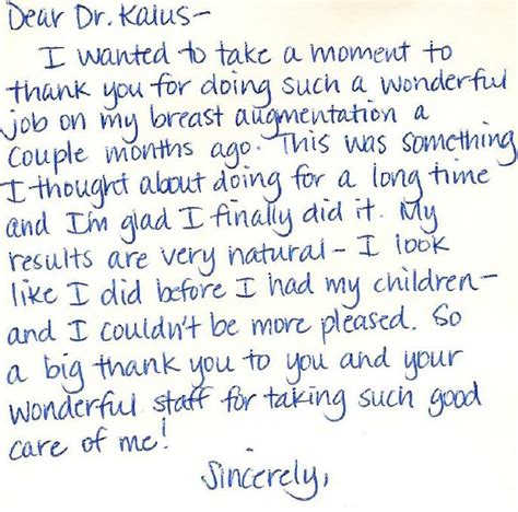thank you note for doctor
