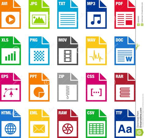 file layout definition error 118 20 file format icons stock vector illustration of icons