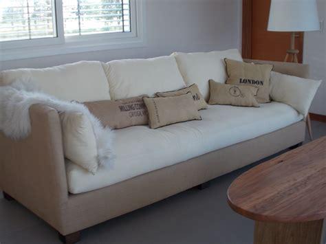 decoracion estudio con sofa cama sillon de 2 70 x 95 combinado arpillera y lienzo