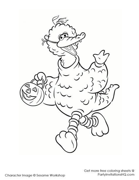 coloring page big bird sesame street big bird clipart clipart suggest
