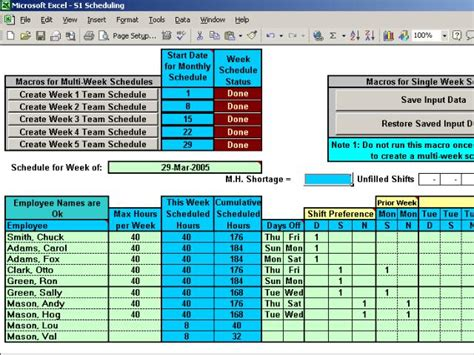 free download excel rota shift