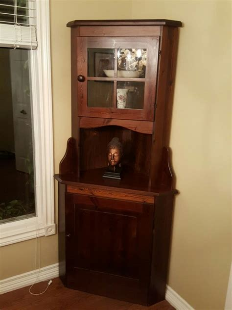 Dining Room Corner Cabinet by Wood Dining Room Corner Cabinet In Toronto Letgo