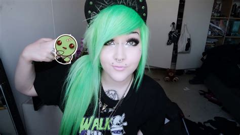 emo hairstyles in a ponytail easy quot emo scene alternative quot side ponytail tutorial with
