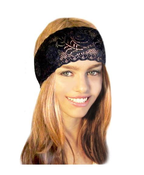 hairstyles with stretchy headbands stretch wide lace headband head band fancy black french
