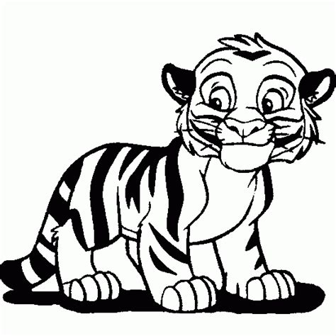 Imagenes Para Pintar Tigre | dibujos de tigre dibujos para pintar animales para imprimir