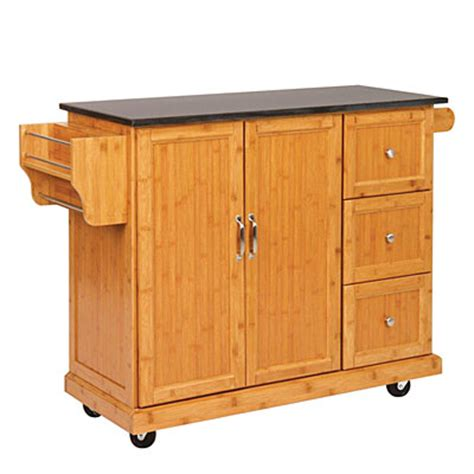bamboo kitchen cart big lots