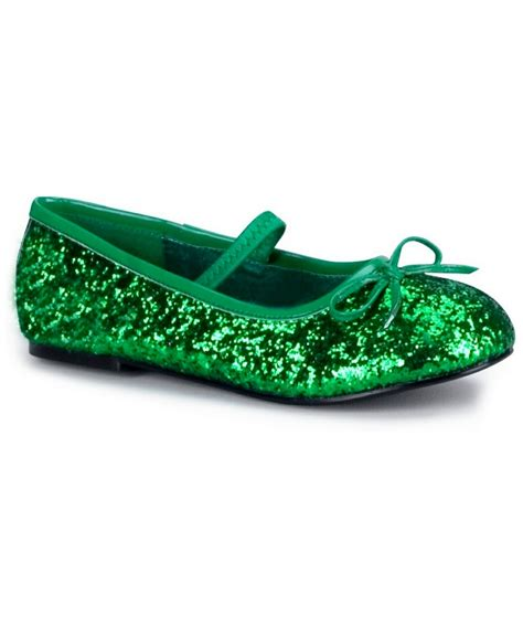 green sparkle shoes green sparkle flats costume shoes costume shoes