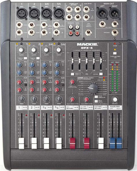 Mixer Mackie 6 Channel mackie dfx 6 sound mixer review