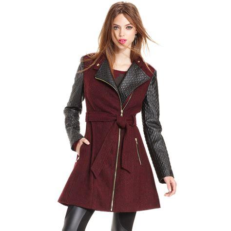 Multi Coat lyst guess coat calimesa fauxleather trench in