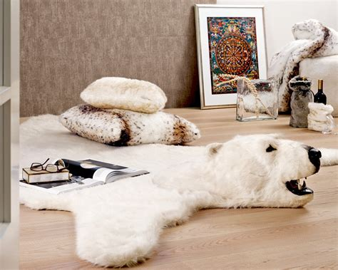 real polar rug faux animal rugs with rugs ideas