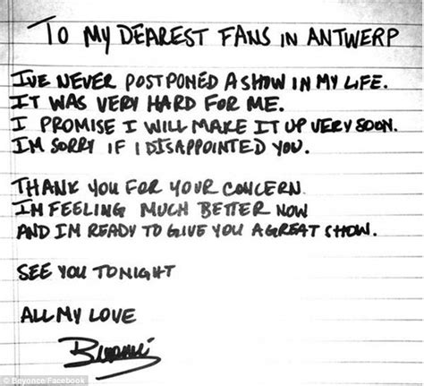 Apology Letter To Your Boyfriend After A Fight beyonc 233 pens handwritten apology after cancellation but