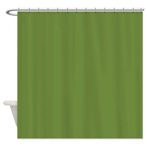 olive shower curtain solid olive green shower curtain by theshowercurtain