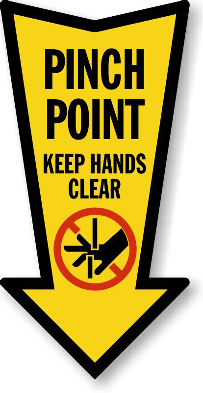 Pinch Point Stickers pinch point labels nip pinch point safety labels