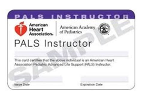 aha card template front and back 90 1817 pals instructor card