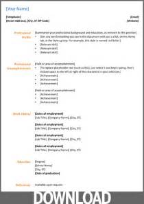 Microsoft Office Templates Cv modele cv ms office cv anonyme